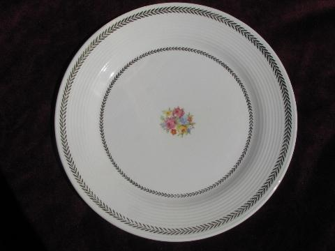 Golden Princess vintage American Limoges china dishes, floral w/laurel