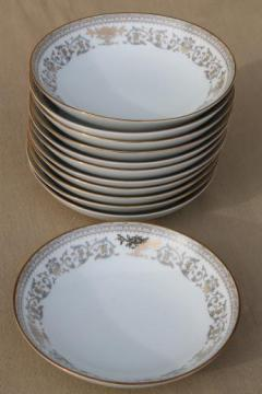 Gracelyn Noritake china dessert bowls set of 12, vintage Noritake dinnerware