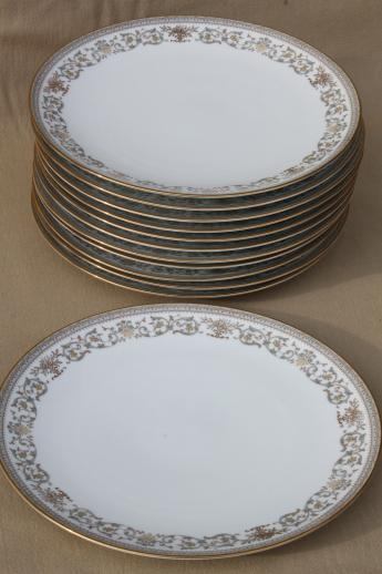 Gracelyn Noritake china dinner plates set of 12 vintage Noritake dinnerware & Gracelyn Noritake china dinner plates set of 12 vintage Noritake ...