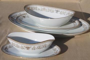 Gracelyn Noritake china serving pieces, huge platter etc. vintage Noritake dinnerware lot