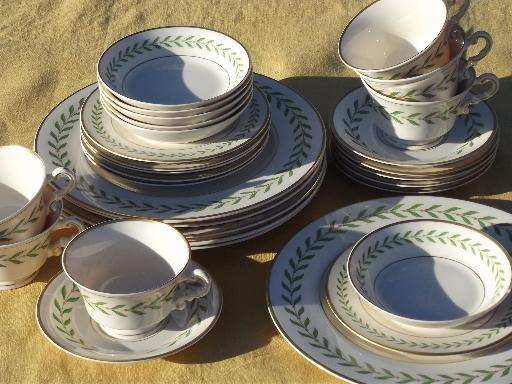 & Greenwood laurel vintage Old Ivory Syracuse china breakfast set for six