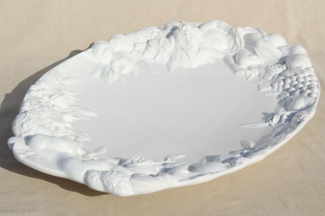 Gumps Italian Ceramic Platter Or Serving Tray Classical