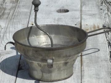 HUGE gallon sized commercial kitchen strainer, vintage Foley food mill