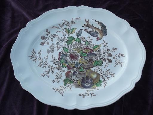 & Hampshire Royal Doulton china chop plate platter oval bowls lot