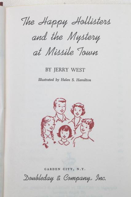 Happy Hollisters 60s vintage children's mystery series books, Missile Town, Haunted House