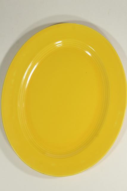 Harlequin Homer Laughlin china, mid-century mod serving platter in yellow