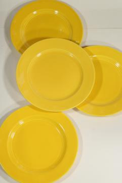 Harlequin yellow luncheon or dinner plates, vintage Homer Laughlin china