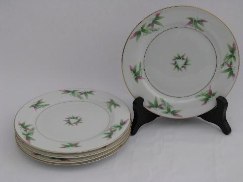 & Harmony House Mandarin bamboo china vintage Japan small plates