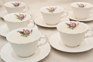 Heath & Rose floral 1920s vintage Spode's Jewel Copeland Spode china cups and saucers
