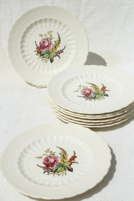 Heath u0026 Rose floral 1920s vintage Spodeu0027s Jewel Copeland Spode china plates & Heath u0026 Rose floral 1920s vintage Spodeu0027s Jewel Copeland Spode china ...