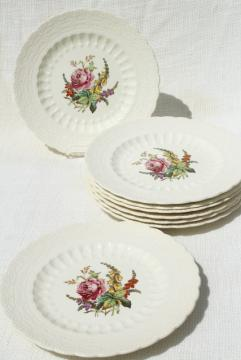 Heath & Rose floral 1920s vintage Spode's Jewel Copeland Spode china plates