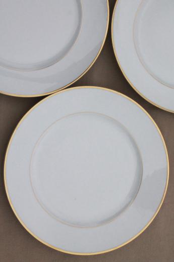 Heinrich Hu0026Co mark porcelain dinner plates deco vintage gold band wedding ring china & Heinrich Hu0026Co mark porcelain dinner plates deco vintage gold band ...