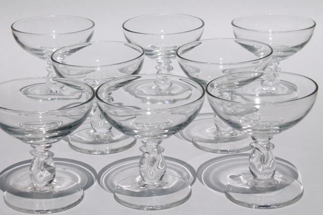 Heisey Lariat Crystal Clear Vintage Glasses Pressed Glass