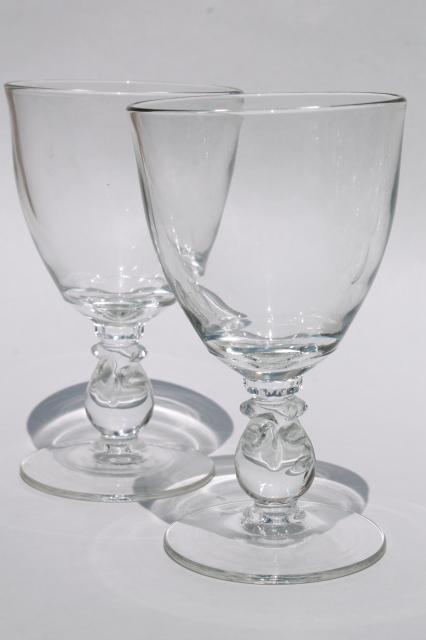 Heisey Lariat Crystal Clear Vintage Stemware Large Water
