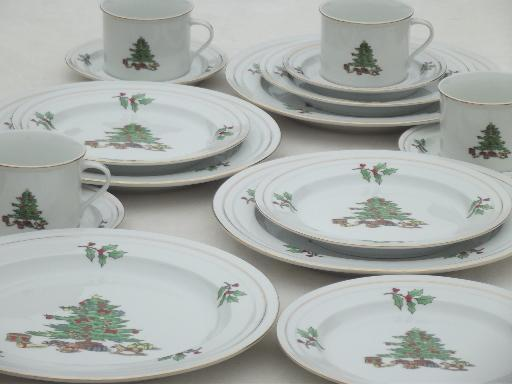 images of christmas china dinnerware sets christmas tree - Christmas China Sets