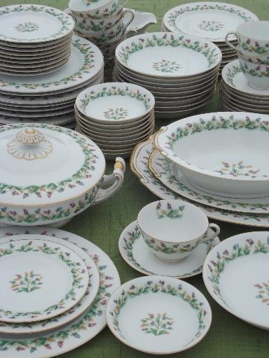 Hollandia tulips Occupied Japan vintage china dishes dinnerware set for 10 & Hollandia tulips Occupied Japan vintage china dishes dinnerware set ...
