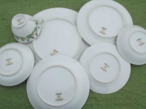 Hollandia tulips Occupied Japan vintage china dishes dinnerware set for 10 : dinnerware china sets - pezcame.com