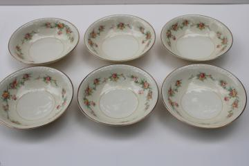 Homer Laughlin Cashmere vintage china fruit or sauce bowls, small dessert dishes