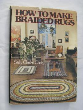 How To Make Braided Rugs, rug braiding instruction book, 70s vintage