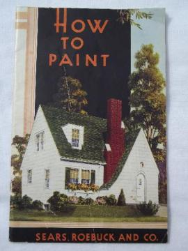 How to Paint (houses), 1938 book from Sears Roebuck, bungalow kit home