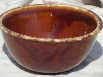 Hull brown drip pottery bowl, vintage Oven Proof 7
