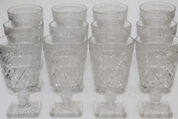 Imperial Cape Cod crystal clear vintage water goblets wine glasses set of 12