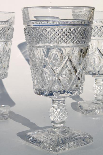 Imperial Cape Cod Crystal Clear Vintage Water Goblets Wine