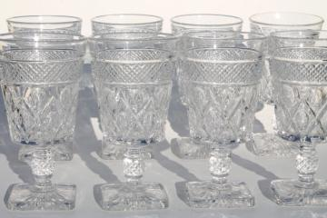 Imperial Cape Cod crystal clear vintage water goblets wine glasses set of 8