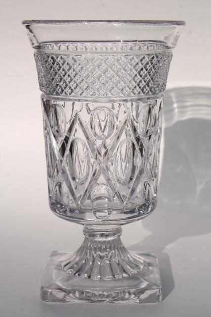 Imperial Cape Cod Pattern Flower Vase Crystal Clear Vintage Glass