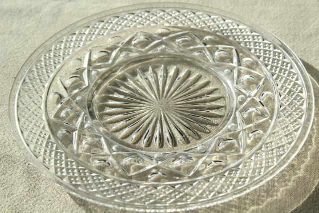 Imperial Cape Cod pattern glass bread u0026 butter plates vintage crystal clear glass & Imperial Cape Cod pattern glass bread u0026 butter plates vintage ...