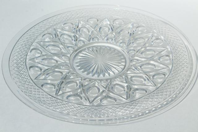 Imperial Cape Cod pattern glass torte plate large cake plate or sandwich tray crystal clear glass & Imperial Cape Cod pattern glass torte plate large cake plate or ...