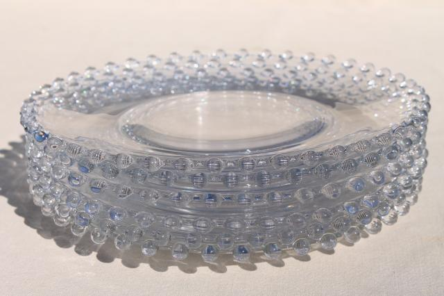Imperial candlewick pattern, crystal clear vintage elegant glass luncheon / salad plates