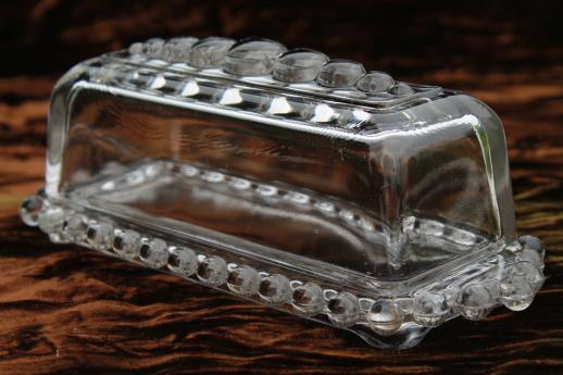 Imperial Candlewick Pattern Glass Covered Butter Dish
