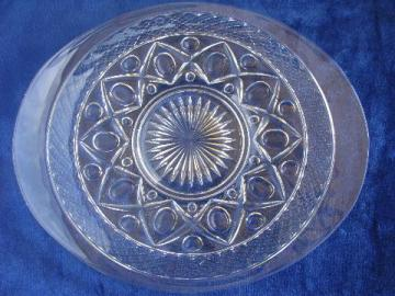 Imperial glass Cape Cod pattern oval platter bread plate, mint condition