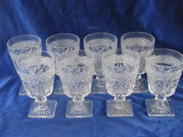 Imperial glass Cape Cod pattern water glasses, set of 8 goblets, mint condition