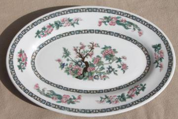 India Tree vintage ironstone platter, Shenango china Indian Tree restaurant ware oval plate