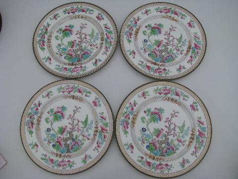 India/Indian Tree antique vintage Royal Doulton china salad plates & Indian Tree antique vintage Royal Doulton china salad plates