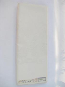 Irish linen double damask huge vintage tablecloth, mint condition w/ original label