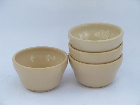 Jac-Tan adobe brown restaurant ironstone, custard cup bowls, vintage Jackson china