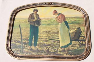 Jean Francois Millet Angelus, Prayer for the Potato Crop antique framed print