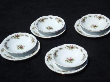 Johann Haviland new Traditions china moss rose plates and bowls for 4