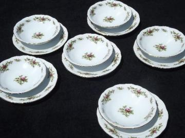 Johann Haviland new Traditions china moss rose plates and bowls for 6