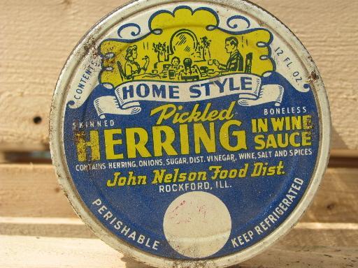 john nelson rockford old advertising lid vintage glass herring jar. Black Bedroom Furniture Sets. Home Design Ideas