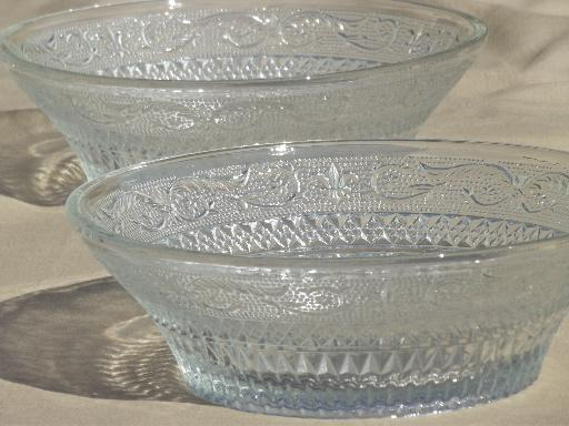 Kig Malaysia Glassware Old Sandwich Pattern Glass Dishes