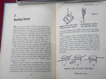Knots and Splices vintage illustrated book on tying ropes