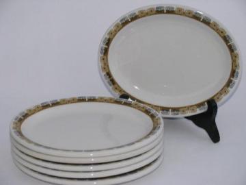 Kon-Tiki mod vintage Shenango china railroad or restaurant oval steak plates