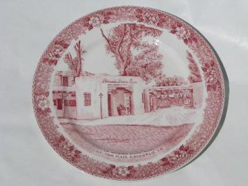 La Hacienda dining rooms Albuquerque, vintage restaurant china plate