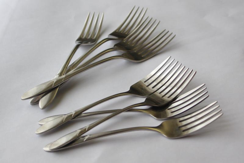 Lady Hamilton vintage Oneidacraft deluxe stainless flatware, dinner & salad forks