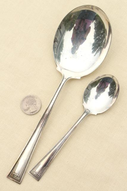 Lady Helen Yourex Silver Seal silverplate flatware, vintage silverware estate lot