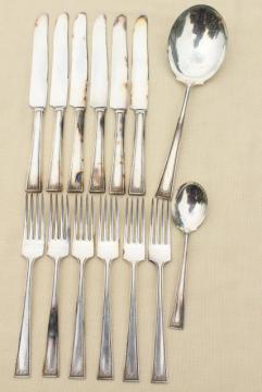 Lady Helen Yourex Silver Seal silverplate flatware, vintage silverware estate lot